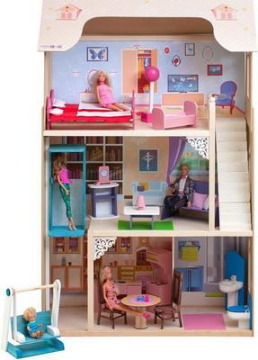 Кукольный дом Paremo Грация с 16 предметами мебели качелями и лифтом PD 315-03