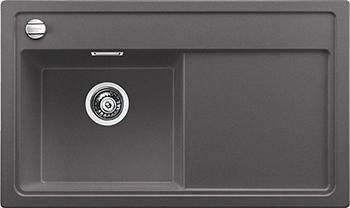 Кухонная мойка Blanco 523820 ZENAR 45 S-F (чаша слева) SILGRANIT темная скала с кл.-авт. InFino кухонная мойка blanco 523822 zenar 45 s f чаша слева silgranit белый с кл авт infino