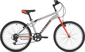 Велосипед Stinger 24'' Defender 12 5'' серый 24 SHV.DEFEND.12 GR8 джемпер мужской jlab цвет темно синий jlr721 1561 размер l 50