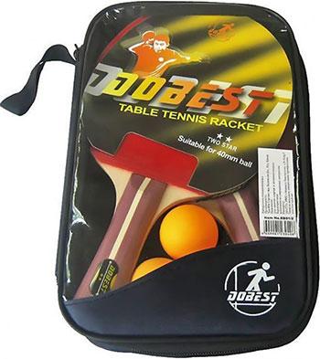 Набор для настольного тениса DoBest BB 01 2 звезды (2 ракетки + 3 мяча) BB 01/2 аксессуар parktool набор для удлинения ptles 1 ptles 2
