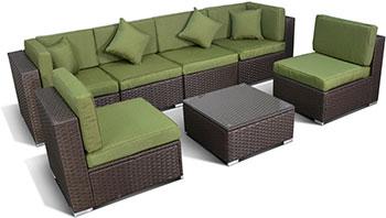 Комплект мебели Афина 7 элементов YR 822 BG Brown/Green
