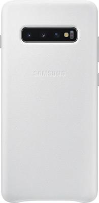 Чехол (клип-кейс) Samsung S 10+ (G 975) LeatherCover white EF-VG 975 LWEGRU mooncase view window leather side flip pouch stand shell back чехолдля samsung galaxy s duos s7562 white