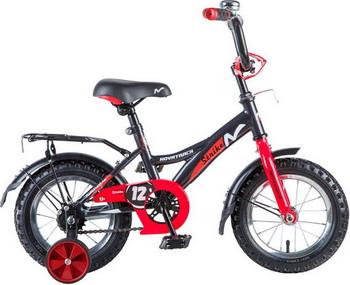 Велосипед Novatrack 12'' STRIKE чёрный-красный 123 STRIKE.BKR8
