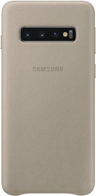Чехол (клип-кейс) Samsung S 10 (G973) LeatherCover gray EF-VG973LJEGRU