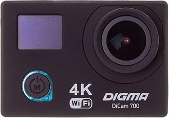 Экшн-камера Digma DiCam 700 черный denn dac211 экшн камера