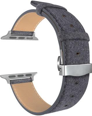 Ремешок для часов Lyambda для Apple Watch 42/44 mm MINKAR DSP-10-44 Black цены онлайн
