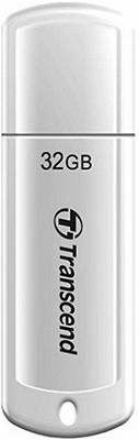 Фото - Флеш-накопитель Transcend 32Gb JetFlash 370 TS32GJF370 USB 2.0 белый usb флешка transcend 370 32gb white ts32gjf370 usb 2 0 15 мб с 11 мб с