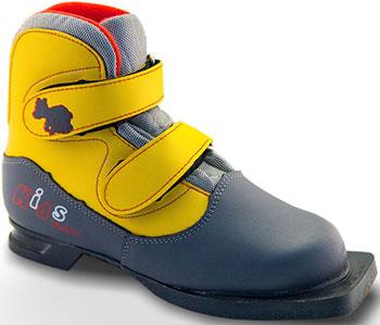 Ботинки лыжные Marax 75мм KIDS серо-желтый р.34 KIDS 34 сж marax m350 comfort