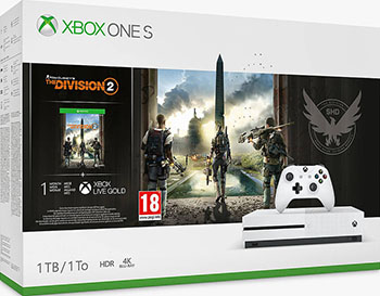 Стационарная приставка Microsoft Xbox One S 1Tb с игрой Tom Clancys The Division 2 1-Month Gold and Game Pass