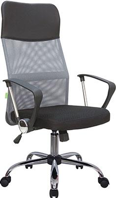 Кресло Riva Chair 8074 Чёрная ткань/Серая сетка (DW-04)