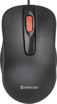 Проводная мышь Defender Point MM-756 черный 3 кнопки 1000 dpi (52756)