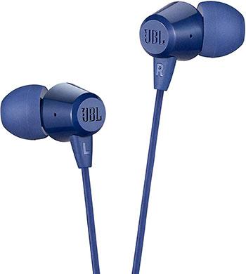 Фото - Наушники проводные JBL C50HI BLU синий вставные наушники jbl t220 tws blu