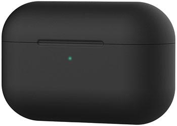 Чехол силиконовый Eva для наушников Apple AirPods Pro - черный (CBAP303B) чехол для наушников steward для apple airpods blue