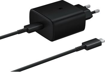 Сетевое з/у + DАТА кабель Samsung EP-TA845 3A (PD) для Samsung кабель USB Type C черный (EP-TA845XBEGRU)