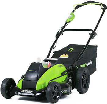 Фото - Колесная газонокосилка Greenworks 40 V G-max GD 40 LM 45 без аккумулятора и зарядного устройства 2500407 газонокосилка partner b305cbs