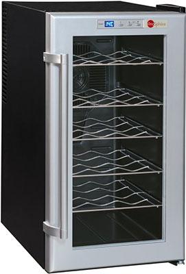 Винный шкаф LaSommeliere VN 18 C чёрный с серебристой рамкой цены
