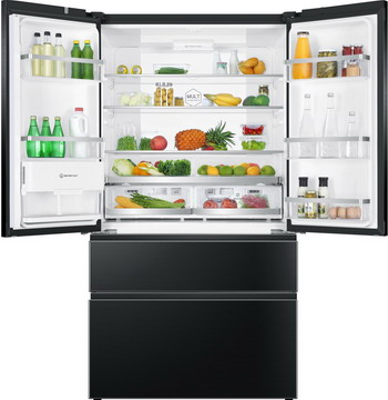 лучшая цена Многокамерный холодильник Haier HB 25 FSNAAA RU black inox