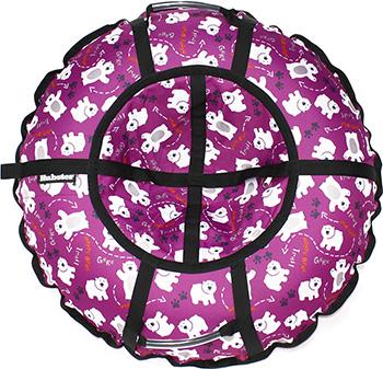 Тюбинг Hubster Люкс Pro Мишки фиолетовые (90см) во5132-1 цена и фото