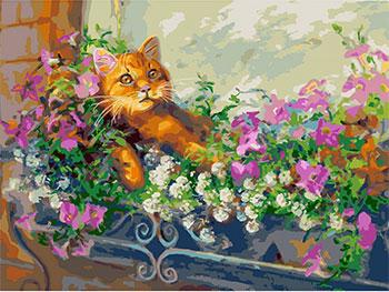 Живопись на холсте Белоснежка 30*40 см 340-AS Любимый кот на отдыхе белоснежка живопись на холсте 30 40 см детеныш леопарда