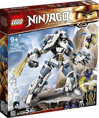 Фото - Конструктор Lego Ninjago ''Битва с роботом Зейна'' конструктор lego ninjago бронированный носорог зейна