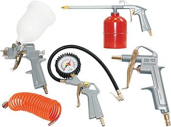Набор пневмоинструмента Fubag 5 предметов (к/р с верхним бачком)