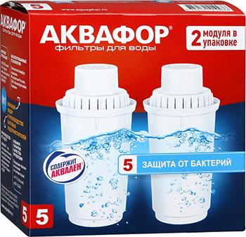цена на Сменный модуль для систем фильтрации воды Аквафор В100-5 ( комплект 2 шт. )