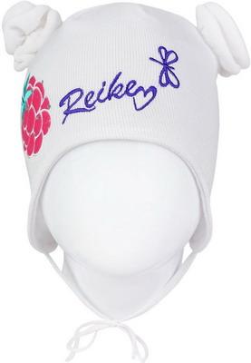 Шапочка Reike Ежевика белая р. 46 шапочка с отворотом для девочки barkito лошадки