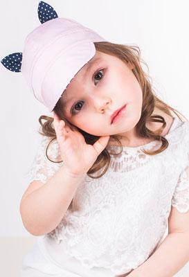 Кепка Vintage Зай Ушка розовый р.50-52 шапка для девочки lassie цвет розовый 7287185161 размер 50 52