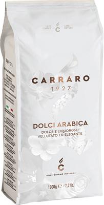 Кофе зерновой Carraro Dolci Arabica 1 кг цена и фото