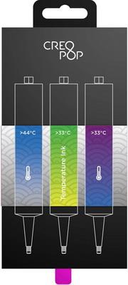 Чернила для 3D ручки чувствительные к температуре (Blue, Green, Purple) CreoPop SKU 008 цена в Москве и Питере