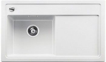 Кухонная мойка Blanco ZENAR 45 S (чаша слева) белый с кл.-авт. InFino blanco zenar 45 s кофе с клапаном автоматом чаша слева