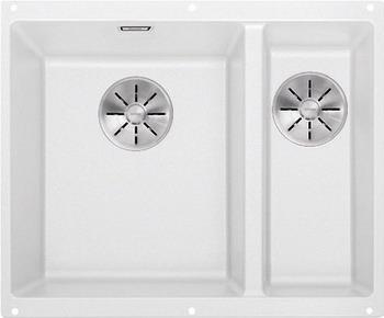 Кухонная мойка Blanco SUBLINE 340/160-U SILGRANIT белый (чаша слева) с отв.арм. InFino 523552 кухонная мойка blanco zenar 45 s чаша слева белый с кл авт infino