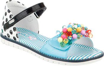 Фото - Туфли открытые Kapika 33271К-1 35 размер цвет белый/синий сабо женские thomas munz цвет белый 251 017a 1104 размер 37