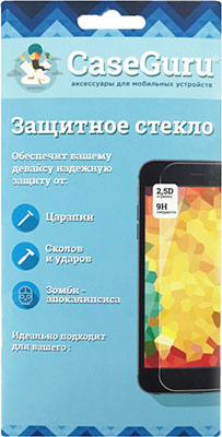 Защитное стекло CaseGuru для iPhone X/XS Glue FS Black