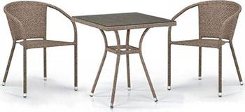 Комплект мебели Афина T 282 BNT/Y 137 C-W 56 Light Brown 2Pcs