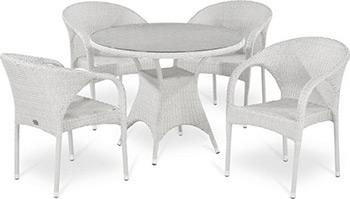 Комплект мебели Афина T 220 CW/Y 290 W-W2 White 4Pcs