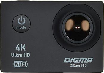 Экшн-камера Digma DiCam 510 1x черный