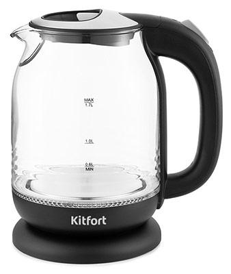 Чайник электрический Kitfort KT-654-5 серый чайник 1 5 л quality cermaic