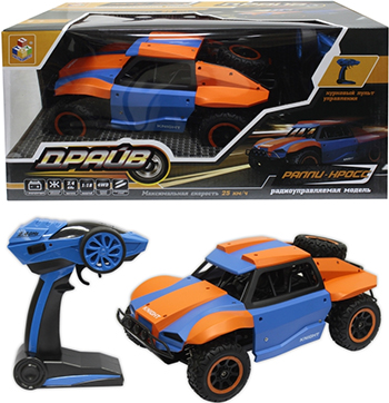 цена на Раллийная машина 1 Toy Драйв голубо-оранжевый Т10969