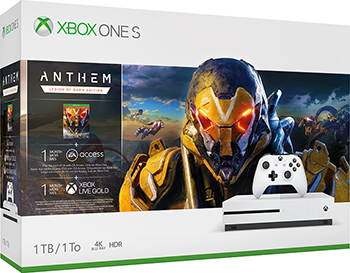 Стационарная приставка Microsoft Xbox One S 1Tb с игрой ANTHEM: Legion of Dawn Edition. 1-Month Gold and Game
