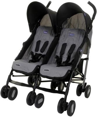 коляски для двойни и погодок Коляска для двойни Chicco Echo Twin Stroller {Coal} 06079311220000