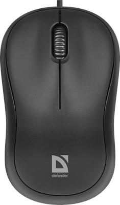 Проводная мышь Defender Patch MS-759 черный 3 кнопки 1000 dpi (52759) фото