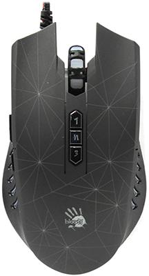 Мышь игровая проводная A4Tech Bloody P81 черный мышь игровая беспроводная a4tech bloody r7 r70 черный