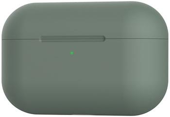 Чехол силиконовый Eva для наушников Apple AirPods Pro - зеленый (CBAP303GR) чехол для наушников steward для apple airpods blue
