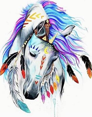 Фото - Алмазная мозаика Цветной ''Индейская красотка''(Частичная) (40х50) на подрамнике lgp001 алмазная мозаика цветной букет нежных цветов 40х50 на подрамнике lg104