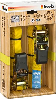 Ремень стяжной Kwb с храповиком 25мм 5м 2шт 7720-25