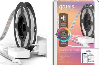 Светодиодная лента GAUSS Smart Home тип RGB CCT DIM 3 м