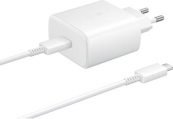 Сетевое з/у + DАТА кабель Samsung EP-TA845 3A (PD) для Samsung кабель USB Type C белый (EP-TA845XWEGRU)