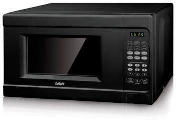 Микроволновая печь - СВЧ BBK 20 MWS-727 S/B чёрный цена и фото