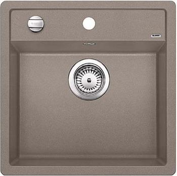 Кухонная мойка BLANCO DALAGO 5 SILGRANIT серый беж с клапаном-автоматом кухонная мойка blanco dalago 45 f silgranit кофе с клапаном автоматом